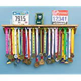Medal Hanger Holder Display Rack With Shelf For Running Trophy Race Photos ETC Ideal