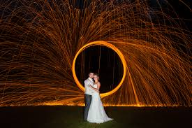 painting with light wedding photo at the mill park hotel donegal