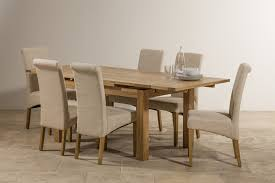 100 6 Oak Dining Table With Chairs Dorset 47ft X 3ft Solid Extending Beige Fabric