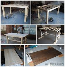 Pottery Barn Inspired Farmhouse Table | DIY - Simply Elliott Pottery Barn Farmhouse Table Office And Bedroom Coffee Farmhouse Fniture Wonderful Rustic Ana Vintage Benchwright Extending Ding Decohoms White Benchwright Farmhouse Ding Table Diy Best 25 Tables Ideas On Pinterest Wood Dning Inspired The Weathered Fox Jute Placematsperfect For Summer