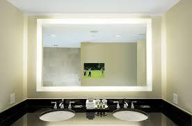 lighted bathroom wall mirror shapes impressive lighted bathroom