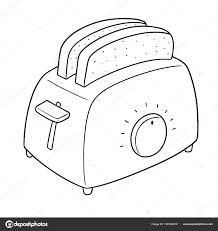 Vector Set Bread Toaster Stock