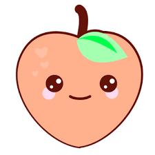 Clip Transparent Stock Peach Clipart Kawaii