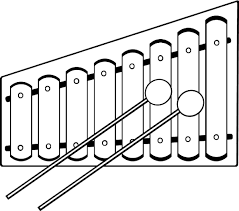 Xylophone Black And White Clipart