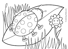 Revealing Springtime Pictures To Color Spring Coloring Pages For Kids Print Out New Free