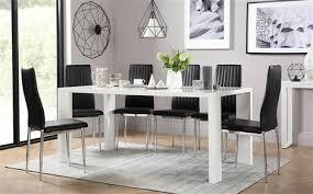 Eden 170cm White High Gloss Dining Table