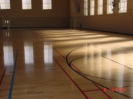 UCLA Mens Gym Floor Los Angeles CA Solid Wood Maple Court
