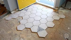 hexagon tile floor transition buildxyz