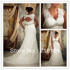 Vintage elegant women s modest plus size wedding dress white lace