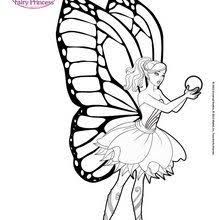 BARBIE MARIPOSA Coloring Pages The Power Of Flutter Flower And Heartstone