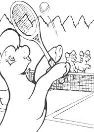 Ponies Running My Little Pony Playing Tennis Coloring Page