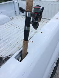 Cheap, Ill Advised Truck Bed Rod Holders   Microskiff - Dedicated To ... Diy Pvc Fishing Rod Holder For Your Truck The Sticks Outfitter Rod Holder Truck Bed Miller Welding Discussion Forums Custom Bed Hull Truth Boating And 39 Flag For Pickup Inspirational 10 05 17 Auto Scotty Rail Mount Holders Trucks Cheap Find Beds Home Made Rack Stripersurf Bloodydecks Youtube