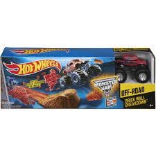 100 Hot Wheels Monster Truck Track Jam Brick Wall Breakdown Playset BIG W