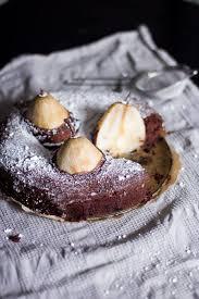 versunkene birnen schokoladen kuchen trytrytry