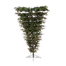 CC Christmas Decor 75 Pre Lit Mixed Pine Artificial Upside Down Tree
