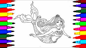 Barbie Dreamtopia Coloring Pages L Mermaid Drawing To Color For Kids