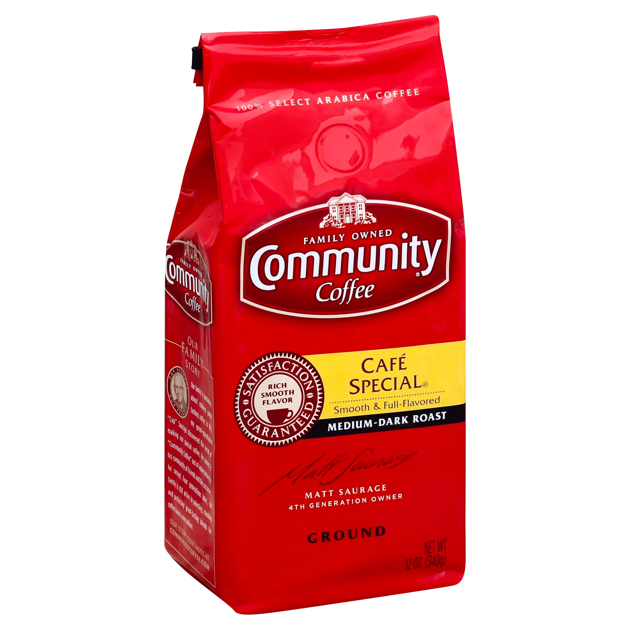 Community Coffee Ground Coffee - Cafe Special, 12oz
