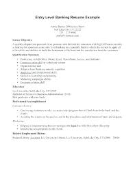 Objectives Resume For Ojt Example Of In A Entry Level Objective Bank Teller Resumes