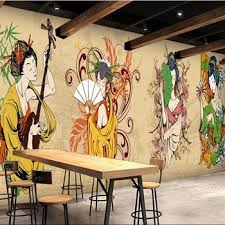 Japanese Cartoon Character Wallpaper Style Restaurants Wall Murals