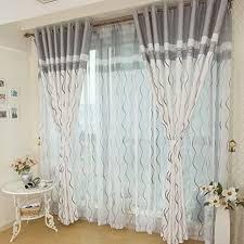 gardinen moderne minimalistische atmosphäre geschwungene