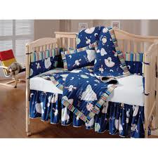 outer space blue quilted crib bedding set boy james nursery