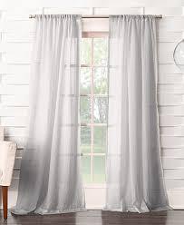Macys Decorative Curtain Rods by Lichtenberg No 918 Silvia Semi Crushed Sheer Rod Pocket Curtain