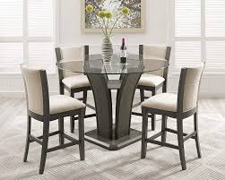 Roundhill Furniture P051GY Kecco Gray 5-Piece Round Glass Top Counter  Height Dining Set Fniture Unbelievable Cool Seagrass Ding Chairs With Rh Modern Homepage Leikela Papaya Medley Tropical Set Round Table For 6 Visual Hunt Room Walker Las Vegas Bernhardt Club Room Ideas Five Piece Gaming Lifttop And Chair By Hillsdale Welcome Dinettes Unlimited Interior Design Ideas House Of Hipsters Padmas Plantation Sandspur Beach Arm Casters Chalk Paint Kitchen