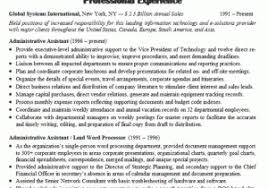 Executive Assistant Resume Samples 2016 From Administrative Sample 1 Experienced
