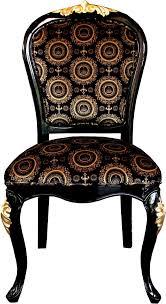 pompöös by casa padrino luxus barock esszimmer stuhl schwarz gold mit krone pompööser barock stuhl designed by harald glööckler