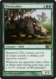 Mtg Werewolf Deck Ideas by Mtg Magic The Gathering Green Wolf Pack Deck Magic The Gathering
