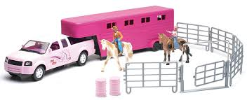 Amazon.com: Valley Ranch Pink Pick Up Truck And Horse Trailer ... Kirpalanis Nv Toy Pickup Truck With Trailer Vehicles Toys Bruder Farm Ertl Big Outback Store Country Life Newray Ca Inc For Fun A Dealer Atc Alinum Hauler Amazoncom 2016 Dodge Ram 2500 And Heavy Duty Car Wild Hunting Fishing Play Set Die Cast Pick Up Camper Custom Trucks Moores L60 Tractor 7770005492 Lego City Great 60056 Tow Games Breyer Stablemates Gooseneck