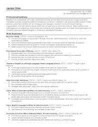 Resume Templates University Administrator