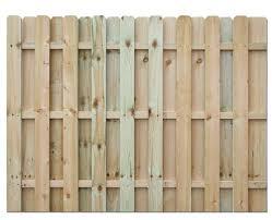 6 x 8 shadow box ac2 treated fence panel at menards