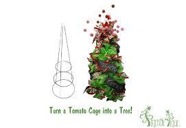 Make A Christmas Tree Using Tomato Cage And Deco Poly Mesh