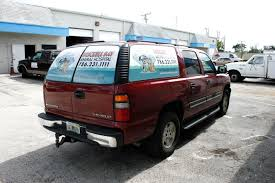 100 Pickup Truck Rear Window Graphics See Through Perforation Fort Lauderdale Back