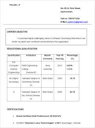 Simple Fresher Resume Objective Template