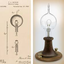 left edison s patent drawing for an improvement in