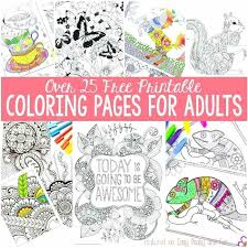 Free Printable Coloring Pages For Adults Color Book