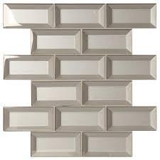 MARAZZI Stone Decor Silver 12 in x 12 in x 8 mm Glass Brick