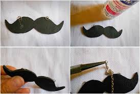How To Make A Mustache Pendant Diy Necklace