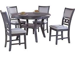 Gia 5 Piece Dining Table And 4 Chairs Grey Finish