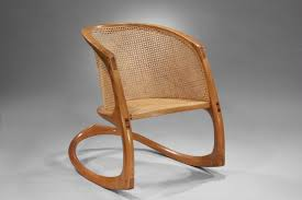 Early David Ebner Rocking Chair | Moderne Gallery Champlain Patio Rocking Chair Acacia Wood Cushioned Traditional Midcentury Modern Teak Finish With Yellow Cushions An American Adirondack Rocking Chair Early 20th Century Sold A Sam Maloof Double Fetched 35000 Century Antique Better Homes Gardens Ridgely Slat Back Mahogany Retro Voorhees Craftsman Mission Oak Fniture Gustav North Wind Carved Signed 1900s Rocker Foa Skull For My Husband As An Early Fathers Late 19th Leather Personalised Wooden Teyboutiquecom