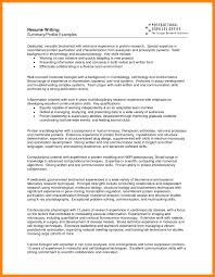 Resume Profile Professional For College Student Templates Examples