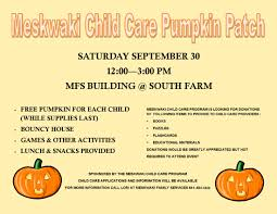 Pumpkin Patch Farms Mississippi by Child Care Program Pumpkin Patch Meskwaki Nation