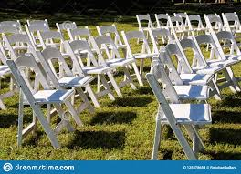 White Folding Chairs In Rows At Outdoor Event Stock Photo ... Trex Outdoor Fniture Cape Cod Classic White Folding Plastic Adirondack Chair Mandaue Foam Folding Wimbledon Wedding Chair View Swii Product Details From Foshan Co Ltd On Alibacom Vintage Chairs Sandusky Seat Metal Frame Safe Set Of 4 Padded Hot Item Fan Back Whosale Ding Heavy Duty Collapsible Lawn Black Lifetime 42804 Granite Pack Www Lwjjby Portable Chairhigh Leisure China Slat Pad Resin