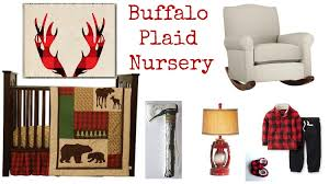 buffalo plaid baby nursery rustic baby chic