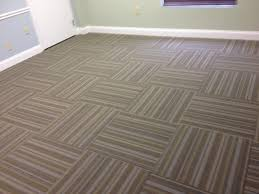 Office Wall To Carpet Brown And Tan Parquet Pattern