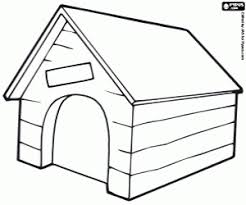 A Little House For Dog Coloring Page Printable Game