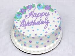 of a violet blue green white birthday cake Patty s Cakes