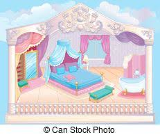 Bedroom Clipart by Clipart Vector Of Princess Bedroom Interior Of Magic Princess